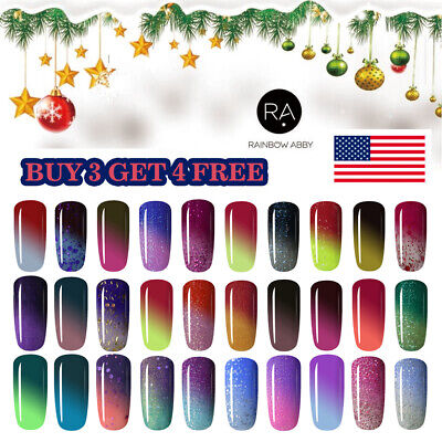 RAINBOW ABBY 8ml Thermal Color Changing Soak Off UV LED Gel