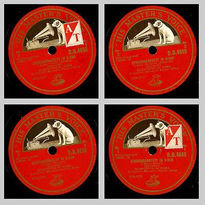 QUARTETTO DI ROMA Donizetti: Streichquartett in D-Dur, Chamber-Music 78rpm GS376