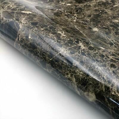 Marble Interior film Self adhesive - Black Glossy Faux Marble Contact Paper](Faux Marble Contact Paper)