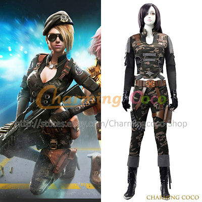 Assault Fire Black Widow Monica Cosplay Costume Femlae Battle Uniform - Monica Halloween Costume