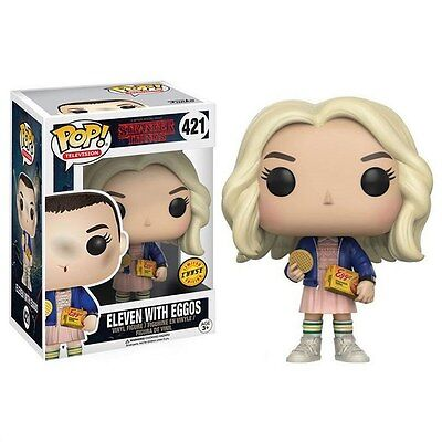 Funko Pop  Tv Stranger Things Eleven In Wig W  Eggos Chase Variant Vinyl Figure