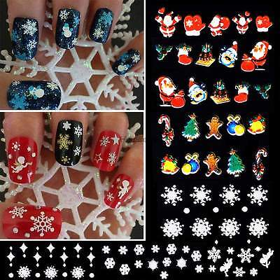 12 Sheet Nail Art Stickers 3D Design Manicure Tips Decal Decorations Multi-Color