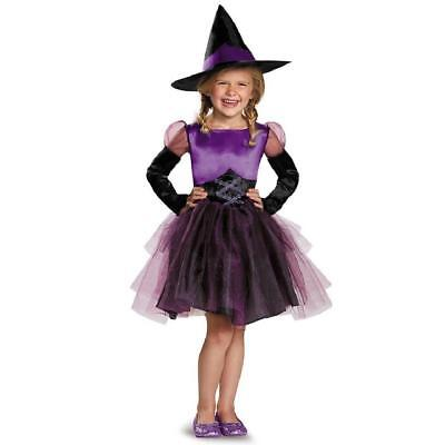 Toddler Witch Tutu Costume (Purple Tutu Witch Wicked Gothic Fancy Dress Up Halloween 2 Toddler Child)