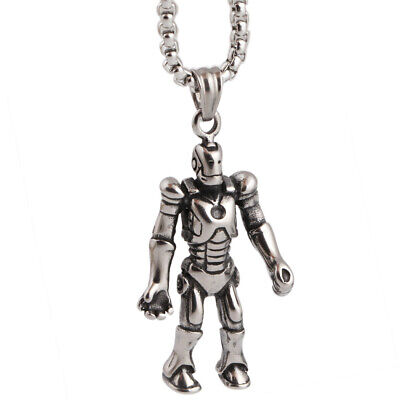 Womens Mens Casual Punk Stainless Steel Fashion Transformers Pendant Necklace