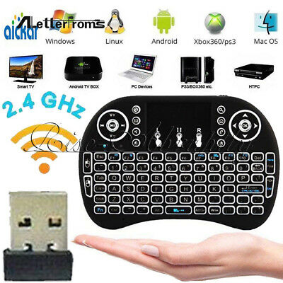 Mini i8 Backlight Wireless Keyboard 2.4GHz Keyboard Remote Control Touchpad