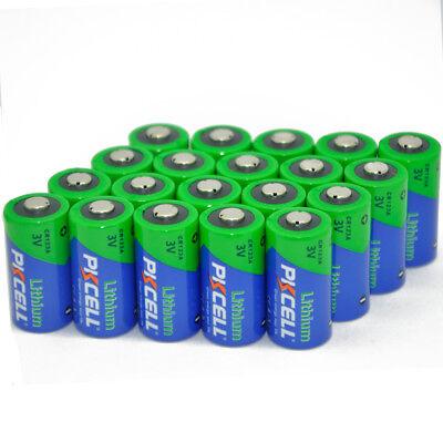 20pcs Fresh CR123A 123A 1500mAh 3V Camera Photo Battery PKCELL Free Shipping for sale  China