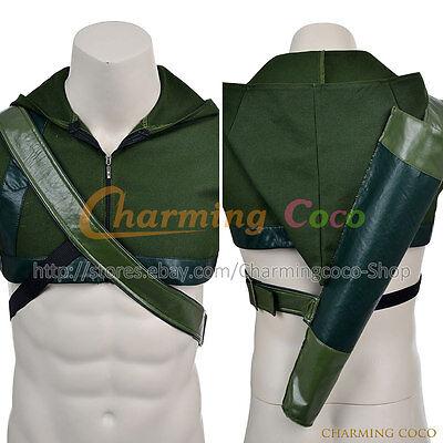 Amazing Halloween Outfits (Green Arrow Oliver Queen Cosplay Costume Halloween Uniform Vest Amazing)