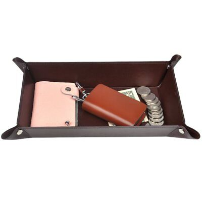 Jewelry Wallet - Valet Tray, PU Leather Catchall, 365park Jewelry Key Wallet Phone Tray for Men