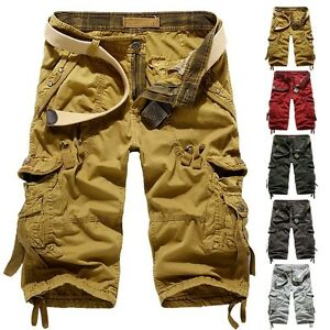 New-Mens-Hobo-Men-Relaxed-Fit-Army-Cargo-Baggy-Shorts-Summer-Cool-Pants-Shorts