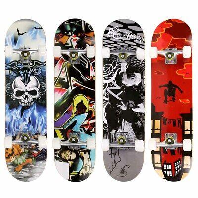 Professional Adult Skateboard Complete Wheel Truck Maple Deck Solid Longboard ##