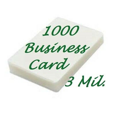1000 Business Card 3 Mil Laminating Pouches 2-14 X 3-34 Ultra Clear Fast Ship