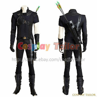 Captain America 3 Civil War Hawkeye Cosplay Clint Barton Superhero Costume Cool