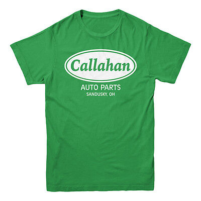 Callahan Auto Parts Tommy Boy Farley Spade Funny Movie Mens Kelly Green T Shirt