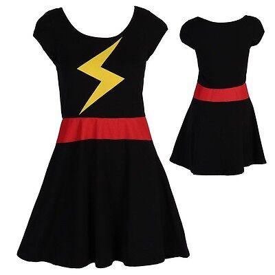 Ms. Marvel Women's Skater Dress - Ms Marvel Costume