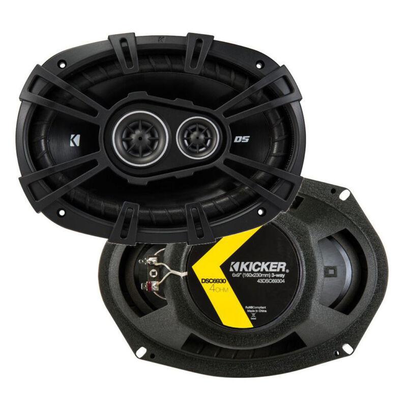 """Kicker 43DSC69304 DS 6x9"""" 360 Watt 3-Way 4-Ohm Car Audio Coaxial Speakers, Pair"""