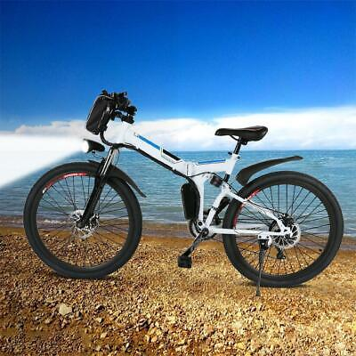 Radsport ANCHEER E-Bike Elektro Fahrrad Faltrad 26 ALUMINIUM Ebike 7 Gang Mountainbike
