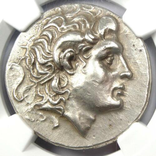 Thrace Alexander the Great Lysimachus AR Tetradrachm Coin 305 BC - NGC AU