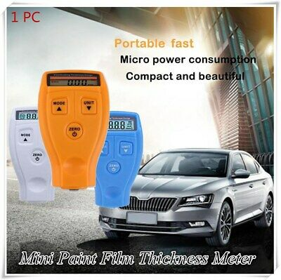 Paint Film Meter Tester Coating Measure Thickness Gauge Digital Portable Mini Us