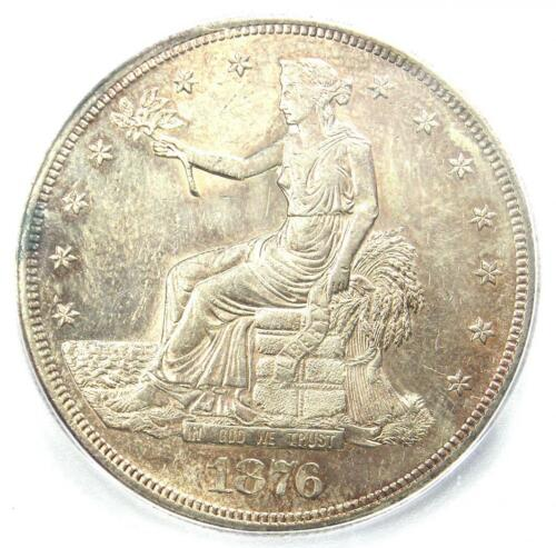 1876-CC Trade Silver Dollar T$1 Coin - ICG MS62 (UNC BU) - $10,470 Guide Value!