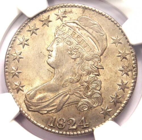 1824 Capped Bust Half Dollar 50C Coin - NGC Uncirculated Details (BU MS UNC)!