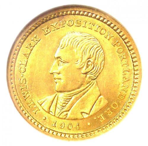 1904 Lewis & Clark Gold Dollar G$1 - Certified NGC MS61 (UNC BU) - $950 Value!