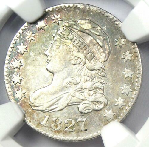 1827 Capped Bust Dime 10C - NGC XF Detail (EF) - Rare Early Certified Coin!