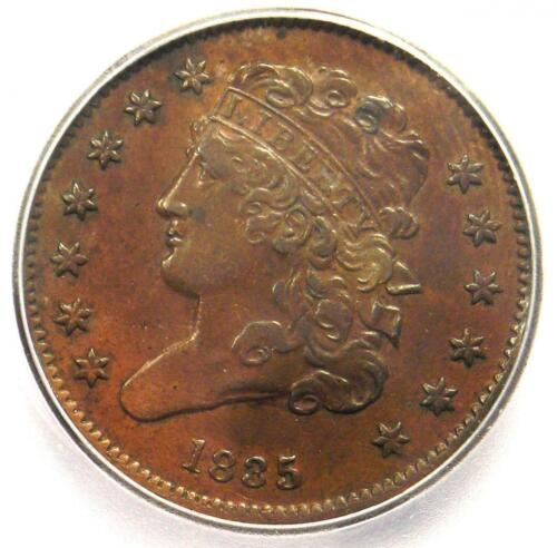 1835 Classic Head Half Cent - Certified ICG AU55 - Rare Early Date Coin!