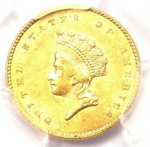 1854 Type 2 Indian Gold Dollar (G$1 Coin) - PCGS Uncirculated Details (UNC MS)!