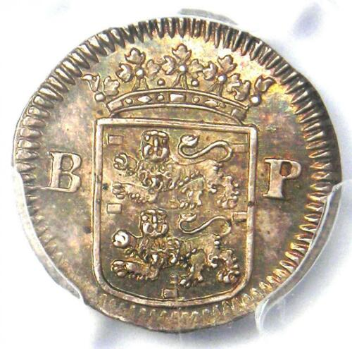 1676 Netherlands W. Friesland Stuiver Coin - Certified PCGS MS63 (Choice BU UNC)