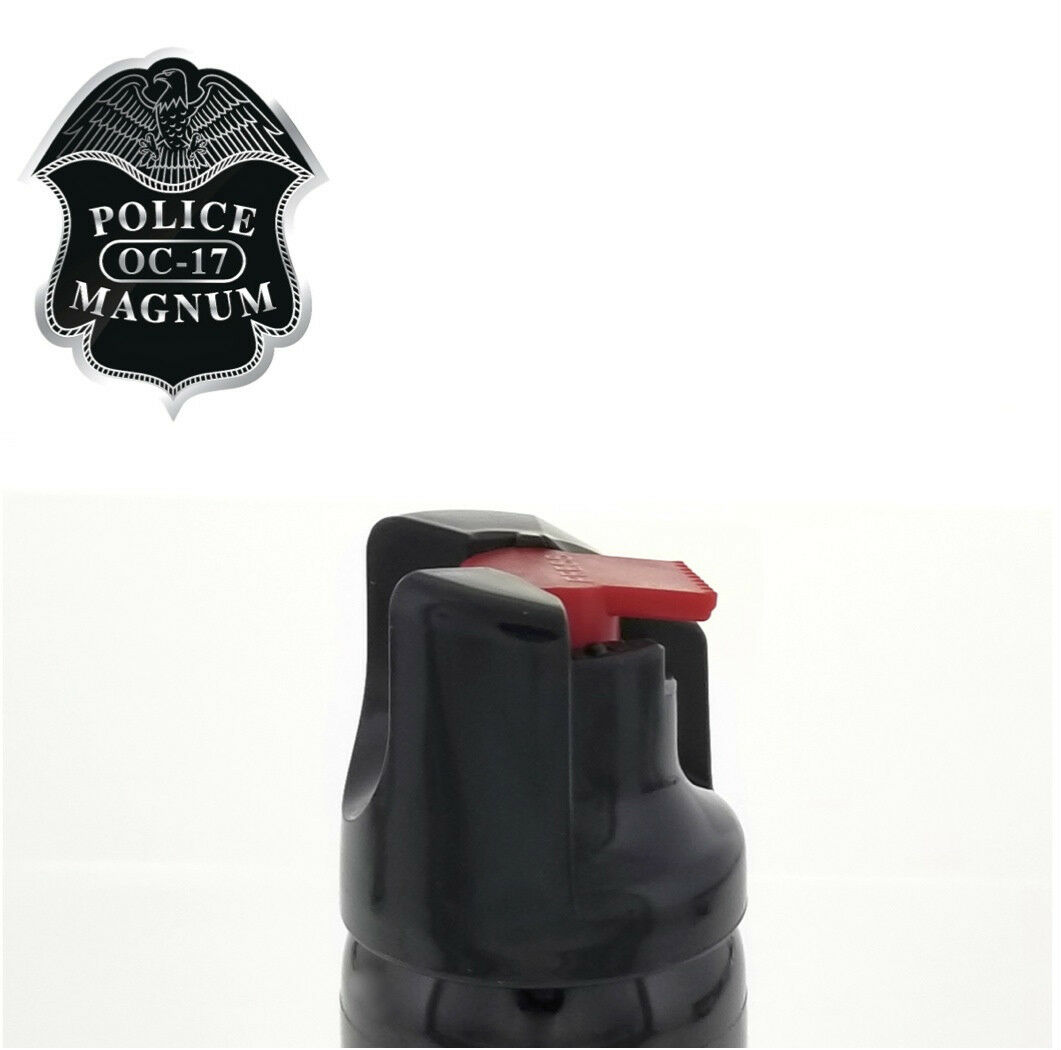 3 PACK Police Magnum Pepper Spray 2 oz ounce Safety Lock Self Defense Security