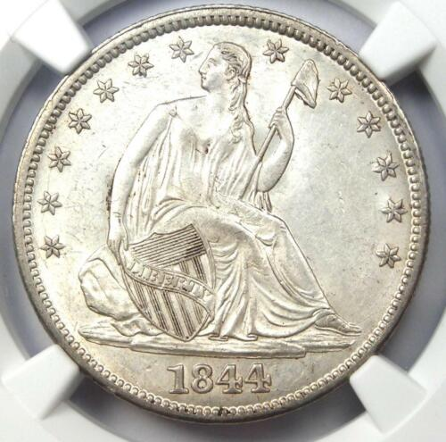 1844 Seated Liberty Half Dollar 50C - NGC Uncirculated Details (MS UNC) - Rare!
