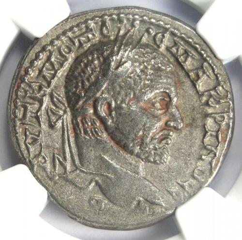 Roman Macrinus BI Tetradrachm Emesa Coin 217-218 AD - Certified NGC XF (EF)