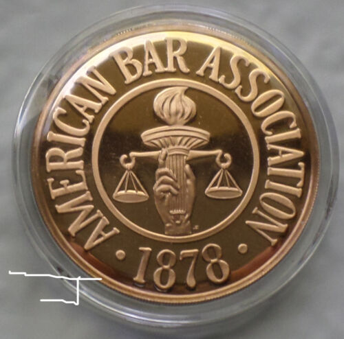 English & American Bar Association Common Faith, Law Lawyer Bronze Proof Medal
