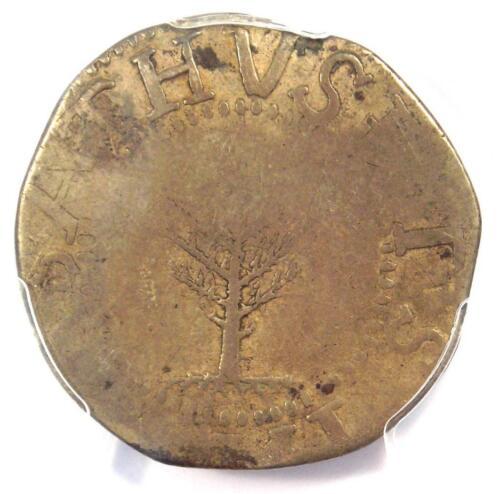 1652 Massachusetts Pine Tree Large Shilling 1S - PCGS VF Details - Rare Coin