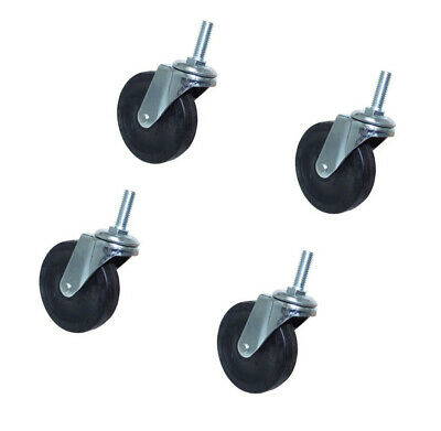 4 Swivel Ball Bearing Caster Wheels 360 Degree Movement - 4 Pc