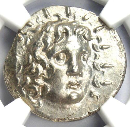 Caria Rhodes Greek AR Drachm Coin Rose Sun Helios 100 BC - 100 AD - NGC MS (UNC)