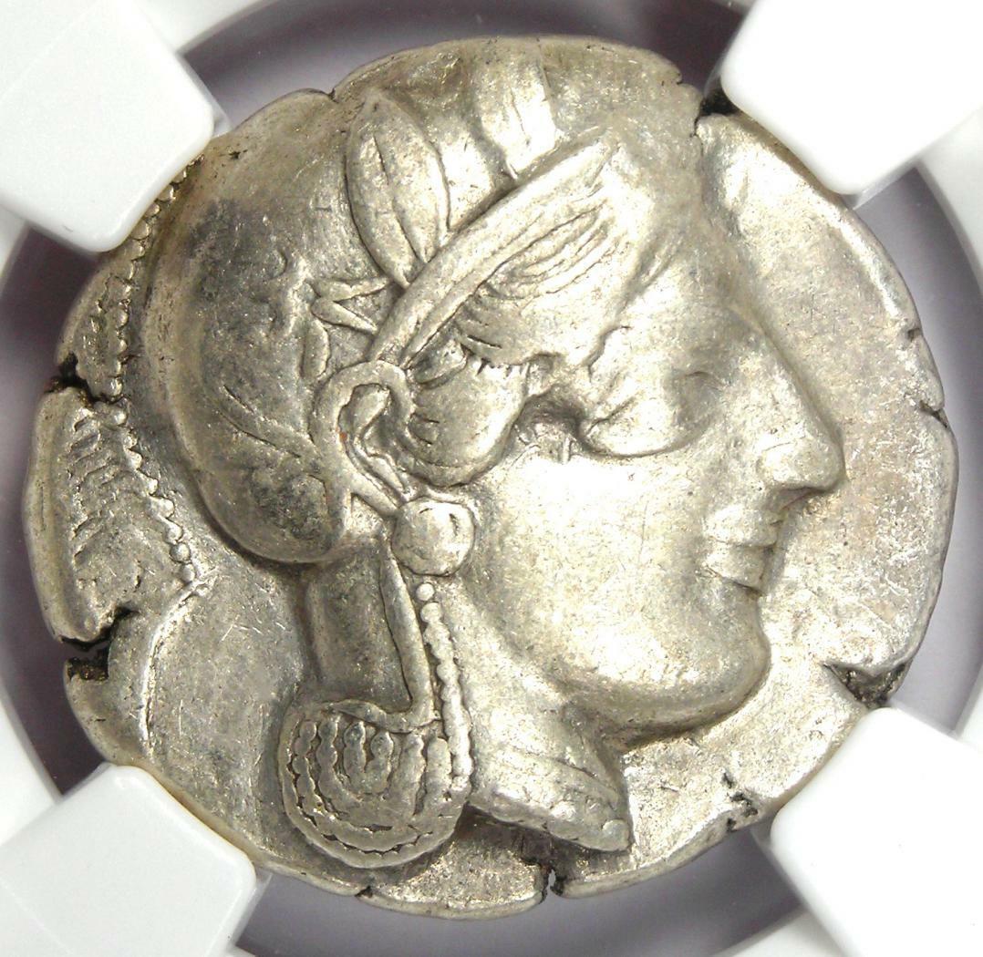 Near East / Egypt Athena Owl Athens Tetradrachm Coin 400 BC - NGC Choice VF - $719.10