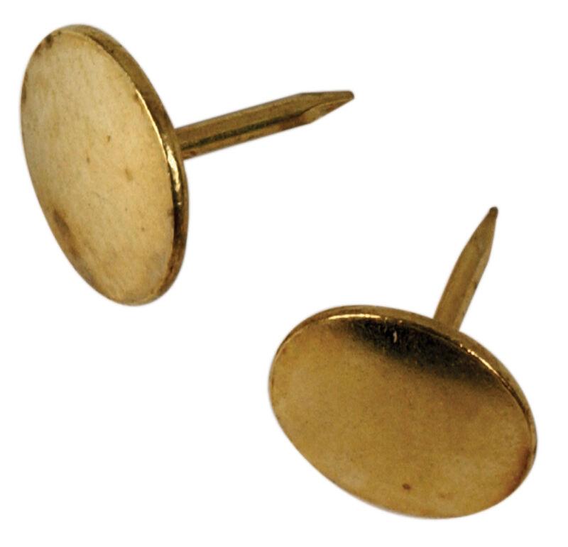Hillman 532612, Thumb Tacks, Brass Plated, 40-Pack
