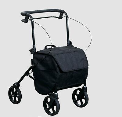 Stabiler faltbarer Rollator mit Einkaufstasche,Gehhilfe,Gehwagen, 8,50 kg leicht