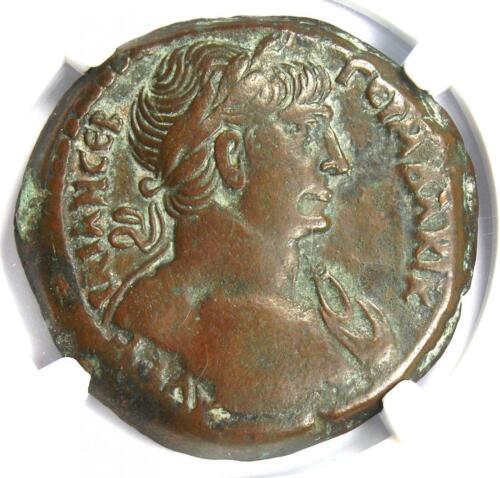 Roman Egypt Alexandria Trajan AE Drachm Coin 114 AD - Certified NGC Choice VF
