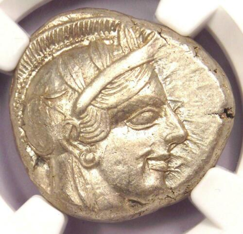 Athens Greece Athena Owl Tetradrachm Coin (440-404 BC) - Certified NGC AU