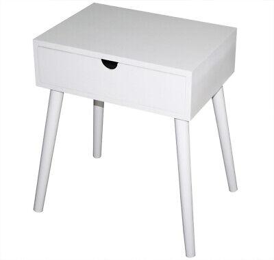 Weiße Konsole Schrank (KMH® Nachttisch Beistelltisch Nachtkonsole Nachtschrank Kommode Holz weiß Nako)