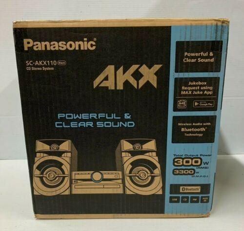 PANASONIC CD/BLUETOOTH/MP3 RADIO HOME Stereo System SC-AKX110 HIGH POWERED