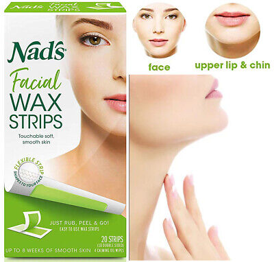 Wax Strips Hypoallergenic All Skin Types Facial Hair Removal 20 Face Wax