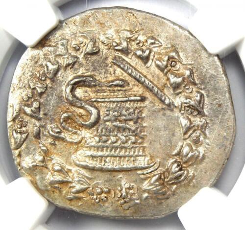 Phrygia, Apameia AR Cistophorus Silver Snakes Coin 166-133 BC - NGC Choice AU