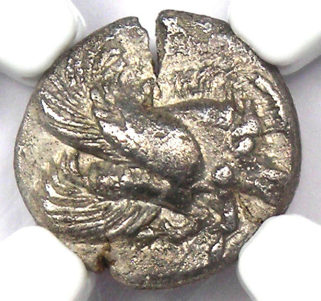 Ancient Ionia Clazomenae AR Diobol Boar Coin 400 BC - Certified NGC XF EF  - $352.50