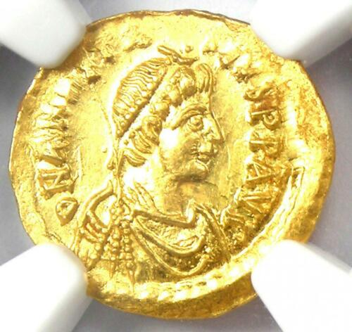 Anastasius I AV Tremissis Gold Coin 491-518 AD - NGC Choice MS (Ch UNC)