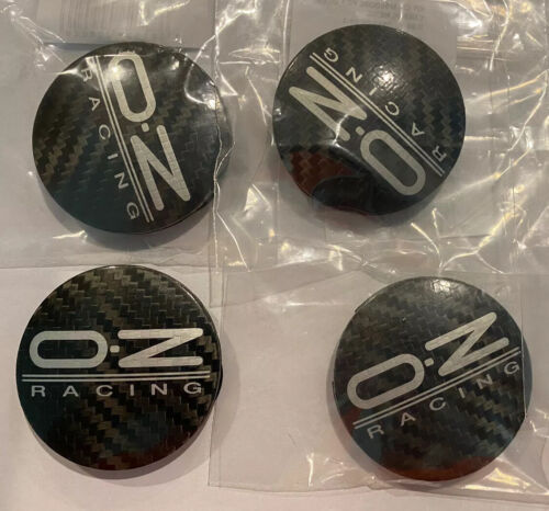 SET OF 4 OZ Racing Carbon Fiber M582 Wheel Center Caps 55mm 81310435 - NEW