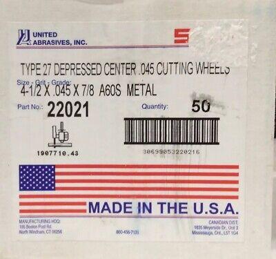 United Abrasives 50-Pack SAITech Cutting Wheel SAIT 23181 Type 1 6 by 0.045 by 5//8 United Abrasives