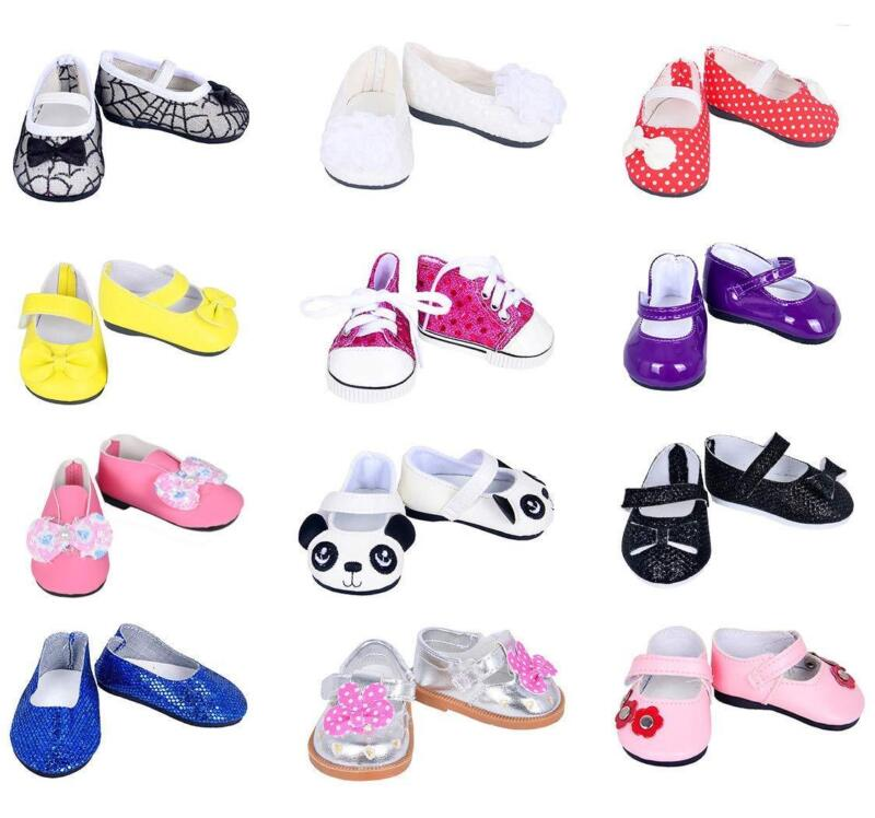 Ebuddy 7Pair Doll Shoes Random Diffrent Style For 18 Inch Do